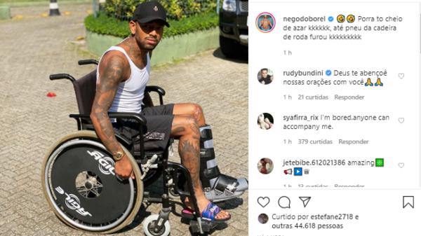 """nego-do-borel-lamenta-acidente-com-cadeira-de-rodas:-""""to-cheio-de-azar"""""""