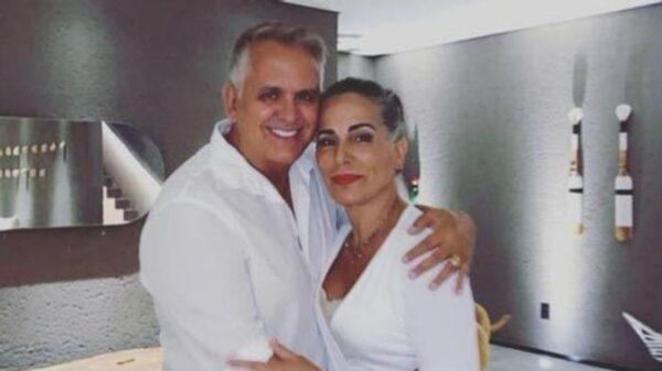 Gloria Pires se emociona ao reencontrar Orlando Morais após alta hospital