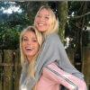 Caroline Bittencourt e a filha, Isabelle - Crédito: Reprodução / Instagram