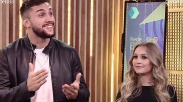 """Carla Diaz e Arthur Picoli durante """"Rede BBB"""" - Crédito: Reprodução / Gshow"""