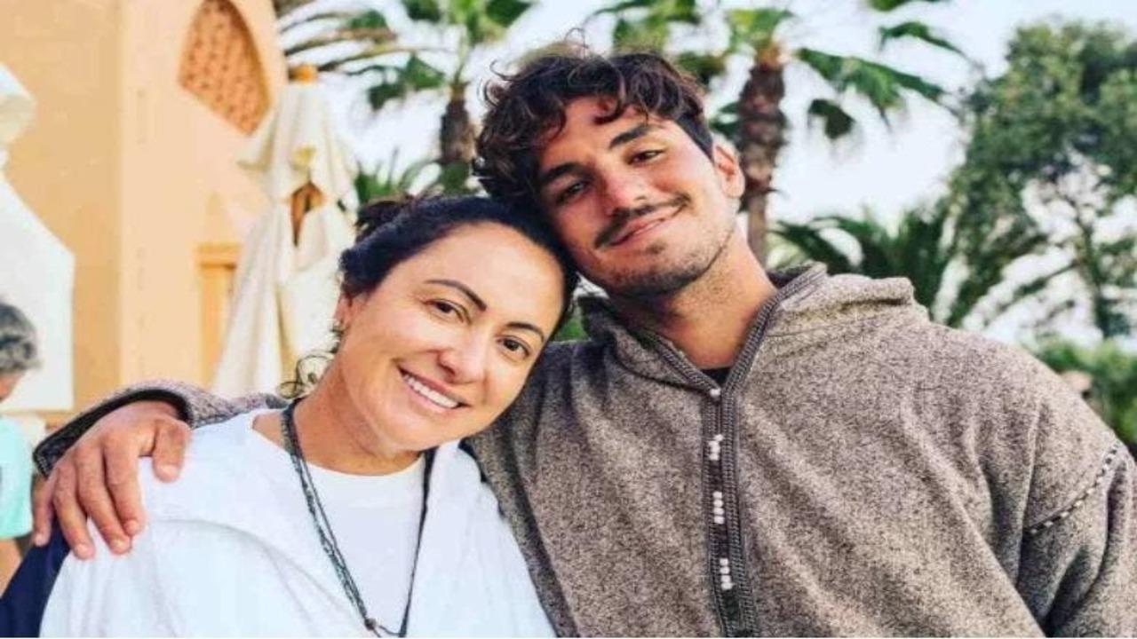 Simone Medina e o filho, Gabriel Medina