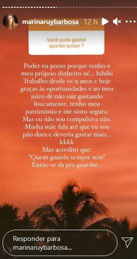 Post compartilhado por Marina Ruy Barbosa - Crédito: Reprodução/ Instagram