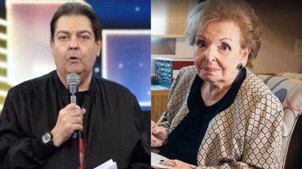 Morre Dona Cordélia, mãe do apresentador Fausto Silva. Foto: Reprodução/TV Globo