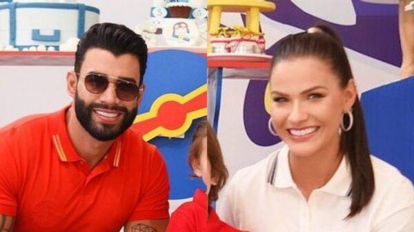 Andressa Suita e Gusttavo Lima postam a primeira foto juntos após término