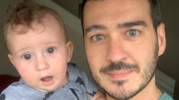 Marcos Veras e o filho