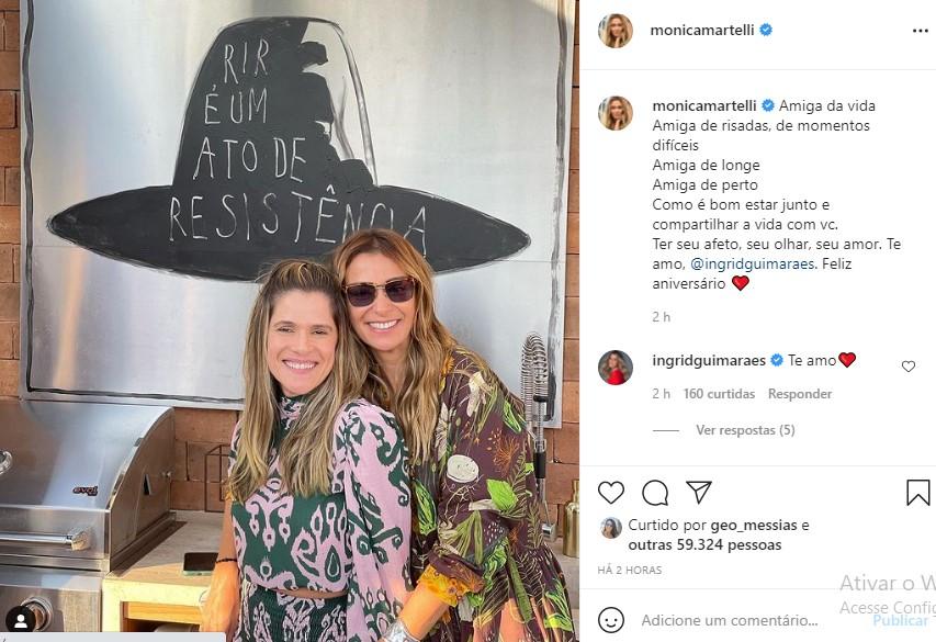 Post compartilhado por Mônica Martelli    - Crédito: Reprodução/ Instagram