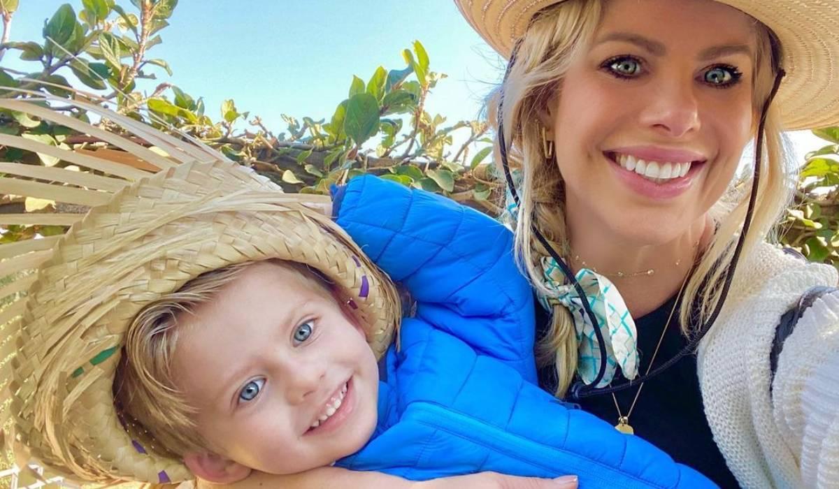 Karina Bacchi e seu filho Enrico- Crédito: Reprodução/ Instagram