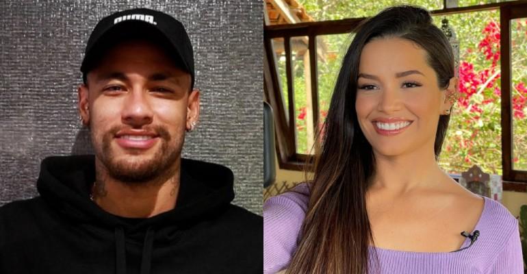 Juliette encontra Neymar e ganha presente especial