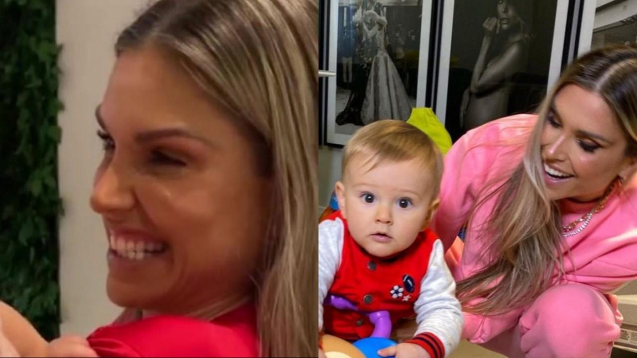 Flávia Viana emociona ao mostrar os primeiros passos do filho