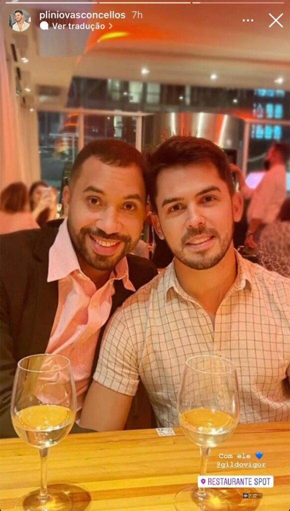 Gil e Plinio Vasconcellos - Crédito: Reprodução/ Instagram