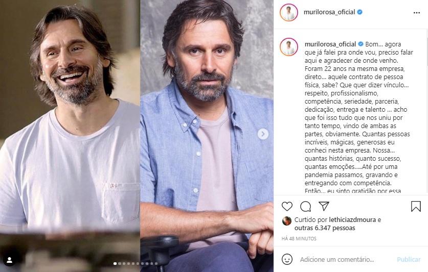 Murilo Rosa assina contrato com a HBO Max e anuncia saída da Globo