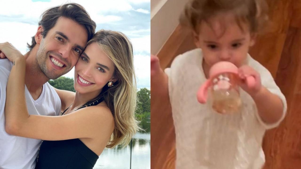 Carol Dias encanta ao mostrar a filha dando os primeiros passos