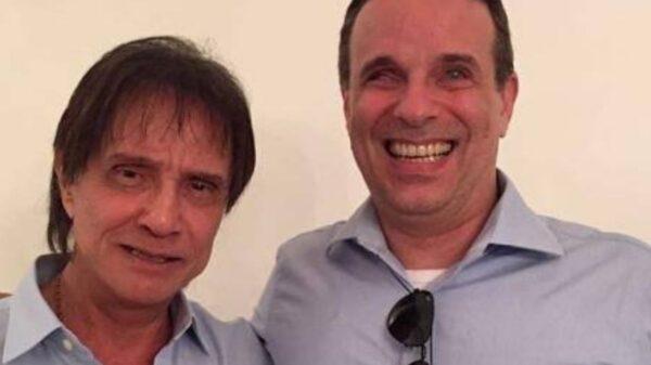Dudu Braga e o Pai Roberto Carlos/ Foto: Reprodução / Instagram