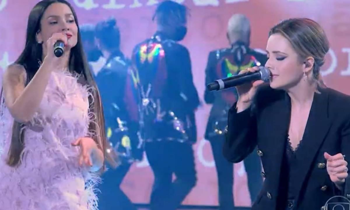 Juliette Freire e Sandy - Crédito: Reprodução/ Globo